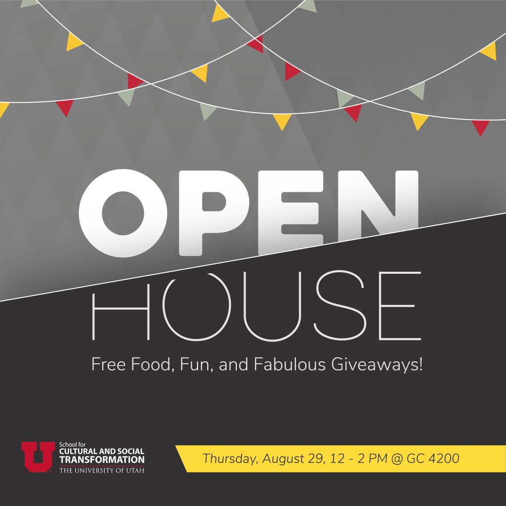 Open House on August 29th from noon to two in the Transform Suite (GC 4200). Free food, fun and fabulous giveaways!